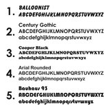lettertypes 1 - 5