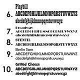 lettertypes 6 - 10
