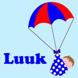 sticker parachute met jongetje_