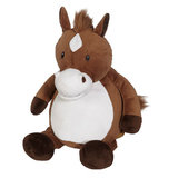 Paard met borduring op zijn buikje_