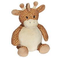 Giraffe met borduring op zijn buikje